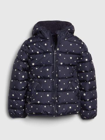 מעיל קווילט בהדפס כוכבים / בנות