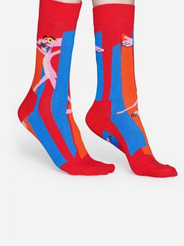 גרביים גבוהים בהדפס הפנתר הורוד / גברים