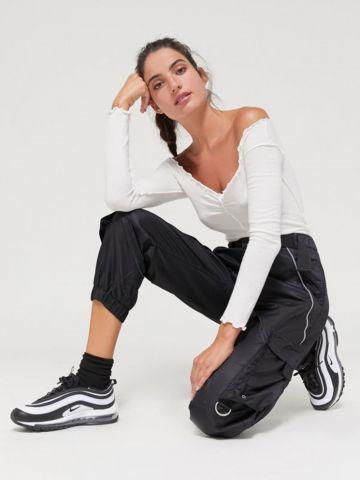 מכנסי ניילון ארוכים בסגנון דגמ״ח UO