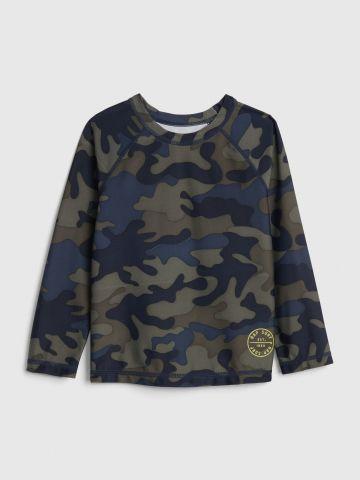 חולצת בגד ים בהדפס קמופלאז' / 12M-5Y