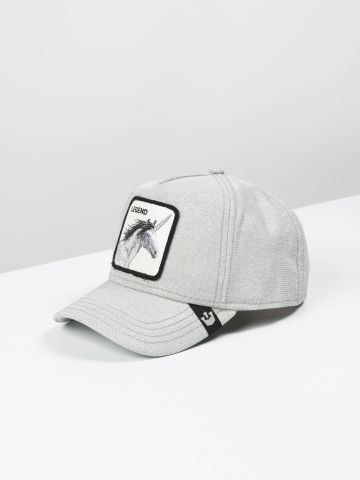 כובע מצחייה מנצנץ עם פאץ' חד קרן / נשים