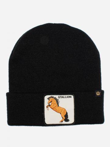 כובע גרב עם פאץ' סוס