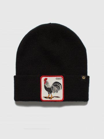 כובע גרב עם פאץ' תרנגול