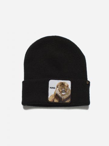 כובע גרב עם פאץ' אריה