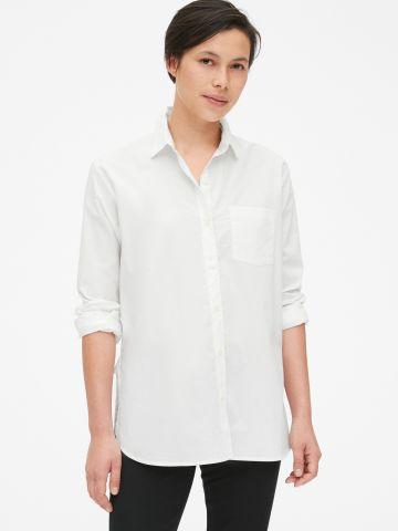 חולצה מכופתרת אוברסייז