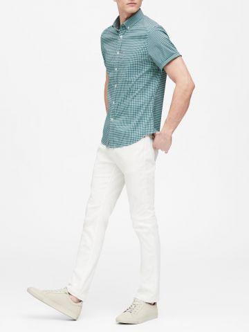 חולצה מכופתרת סלים בהדפס משבצות