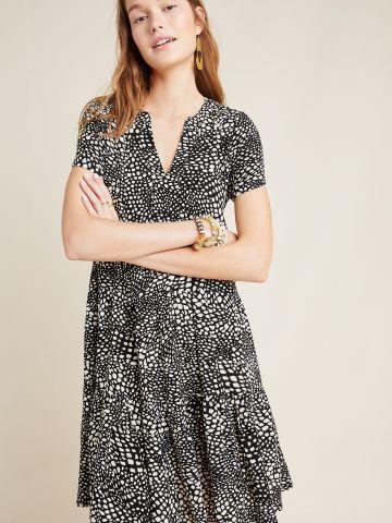 שמלת מיני בהדפס חברבורות Maeve