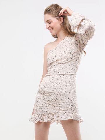 שמלת מיני וואן שולדר בהדפס פרחים