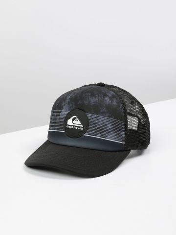 כובע מצחייה עם פאץ' לוגו ורשת / גברים
