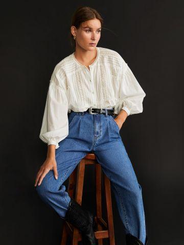 ג'ינס באגי ארוך בשטיפה כהה