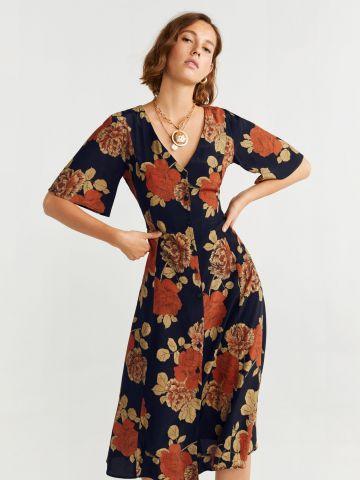 שמלת מידי בהדפס פרחים