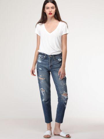 ג'ינס 1319 Vintage בעיטורי רקמת פרחים של AMERICAN EAGLE