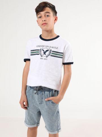 מכנסי טרנינג ווש קצרים של AMERICAN EAGLE