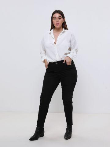 ג'ינס סקיני בגזרה גבוהה High Rise Jegging