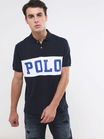 חולצת פולו עם הדפס לוגו Slim Fit