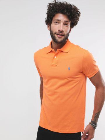 חולצת פולו עם רקמת לוגו Slim Fit