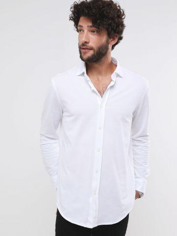 חולצה מכופתרת עם רקמת לוגו Classic Fit