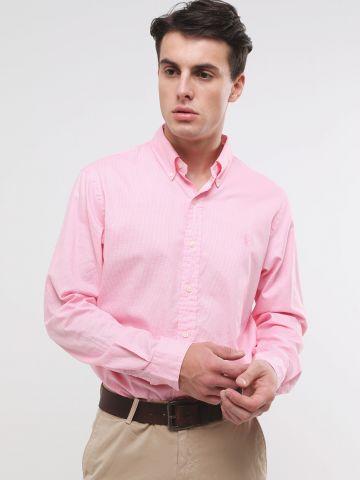חולצה מכופתרת בהדפס פפיטה עם לוגו Slim Fit