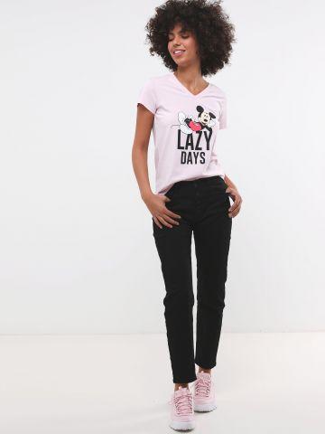 ג'ינס בגזרה ישרה עם כפתורים Regular Rise Jeggings