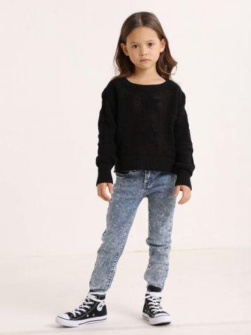 סוודר בדוגמת כוכבים / בנות