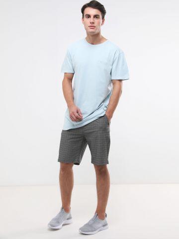 מכנסיים קצרים בהדפס משבצות