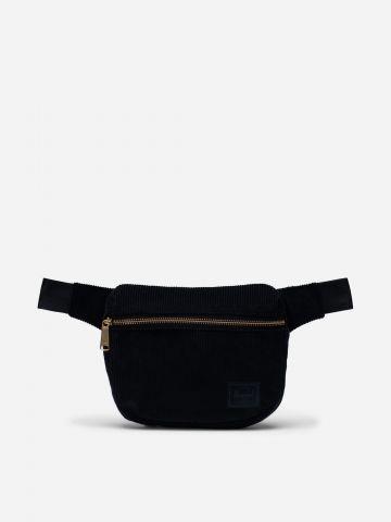 פאוץ' חגורה קורדורוי עם פאץ' לוגו