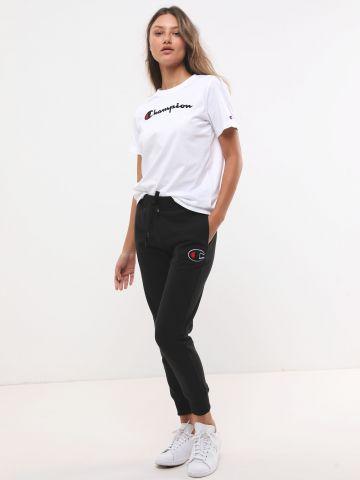מכנסי טרנינג ארוכים עם פאץ' לוגו