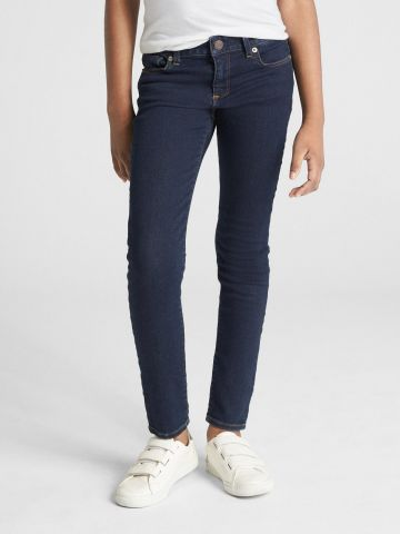 ג'ינס סקיני ארוך בשטיפה כהה / בנות