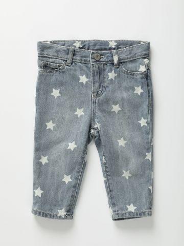 ג'ינס בהדפס כוכבים / 12M-5Y