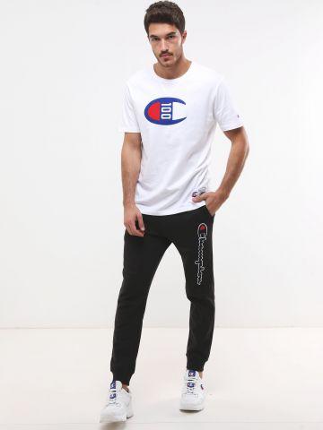 מכנסי טרנינג פוטר ארוכים עם פאץ' לוגו