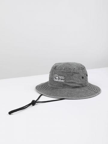 כובע באקט עם רקמת לוגו ושרוך / גברים
