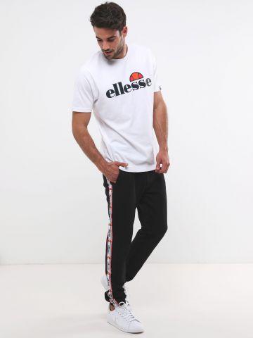 מכנסי טרנינג ארוכים עם סטריפים לוגו