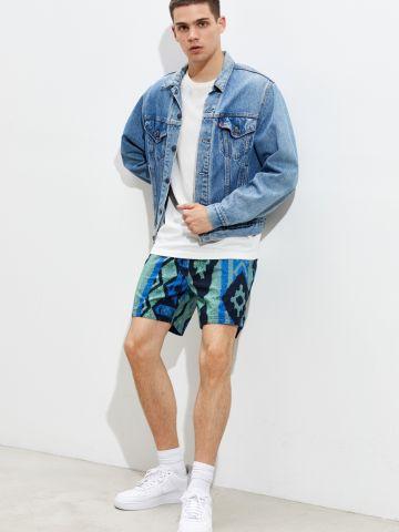 מכנסיים קצרים בהדפס גאומטרי מולטי קולור UO