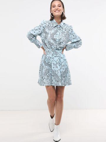 חצאית מיני בהדפס פייזלי