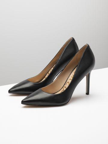 נעלי סטילטו עור עם קצה מחודד