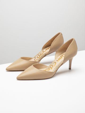 נעלי עקב עור סטילטו עם פתחים של SAM EDELMAN