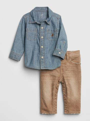 סט ג'ינס 2 חלקים / 0-24M