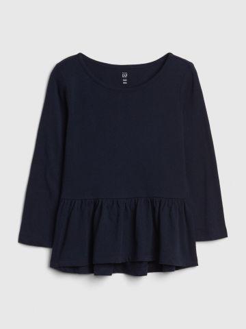 חולצת פפלום עם שרוולים ארוכים / 12M-5Y