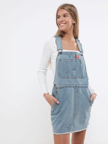 שמלת אוברול ג'ינס עם סיומת פרומה