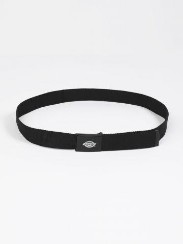חגורת קנבס עם אבזם לוגו / גברים