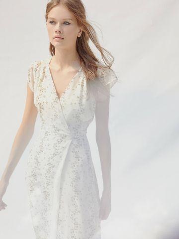 שמלת מעטפת מידי בהדפס פרחים UO