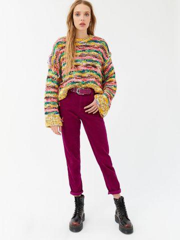 מכנסי קורדורוי בגזרת BDG Mom