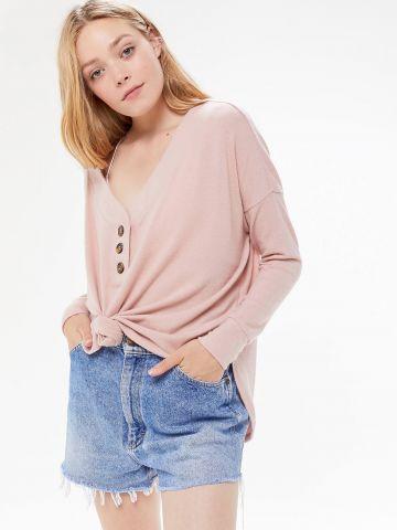 חולצת אוברסייז עם כפתורים Out From Under