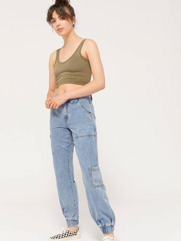 ג'ינס ארוך עם גומי בסיומות BDG