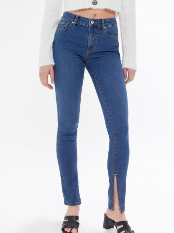 ג'ינס סקיני עם שסעים בסיומת BDG