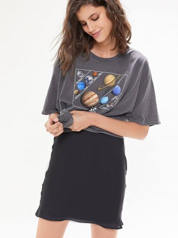 חצאית סאטן מיני UO