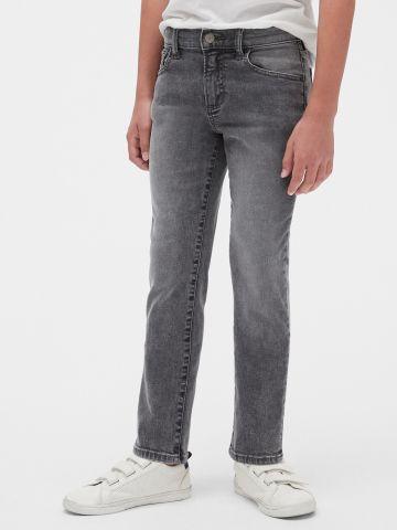ג'ינס סטרץ' סלים עם הבהרות / בנים