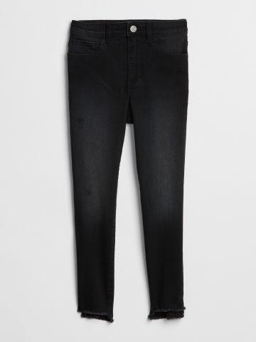 ג'ינס סקיני סטרץ' בגזרה גבוהה / בנות