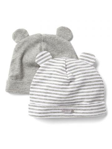 מארז 2 כובעי גרב עם אוזניים / בייבי