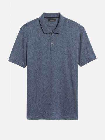 חולצת פולו מלאנז' / גברים של BANANA REPUBLIC